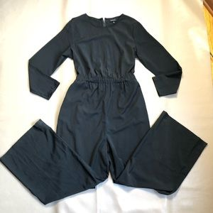 Who what wear black long sleeves Jumpsuit size L